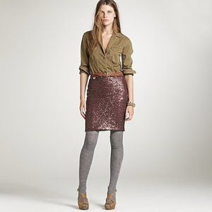 J. Crew Stardust Sequin Beautiful Pencil Skirt
